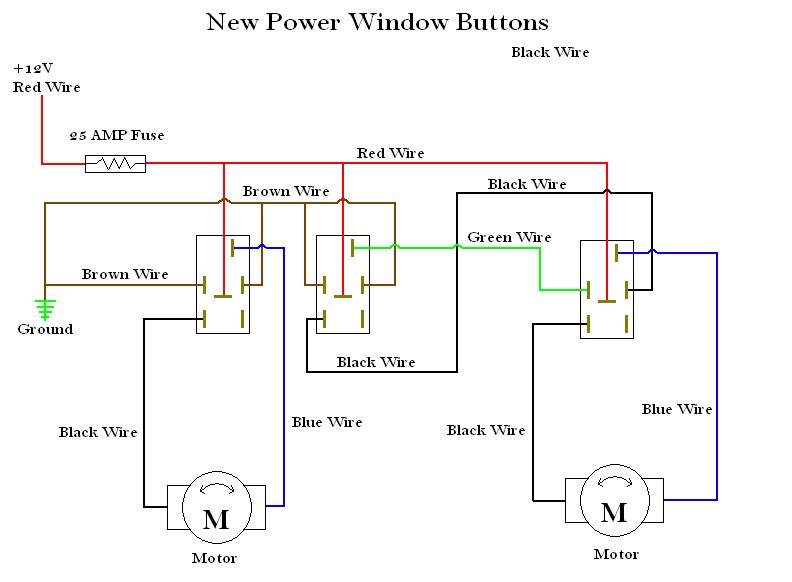 electric window wiring diagrams water pump control box diagram instructions new power switches
