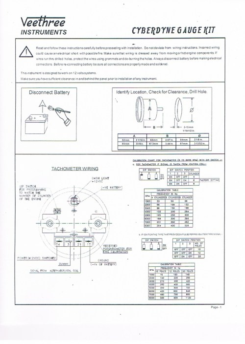small resolution of  tach wiring instructions