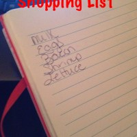 Shopping List or No Shopping List