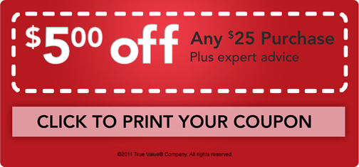 True Value Coupon 5 Off 25 Purchase  Southern Savers