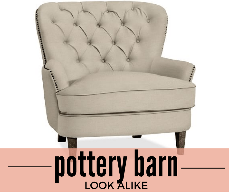 office chair depot hooked pad patterns pottery barn look alike: cardiff tufted upholstered 69% off :: southern savers