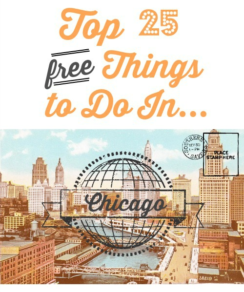 25 FREE things to do in Chicago.  Museums, activities and more!