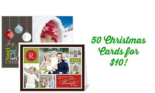 Christmas Card Deal 50 Christmas Cards For 10 On Groupon