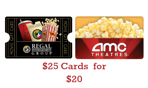 Staples Deal 25 Movie Theater Gift Card For 20
