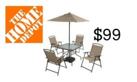 Home Depot: 7 Piece Patio Set, $99 :: Southern Savers