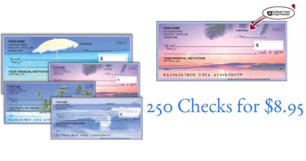 250 personalized checks for