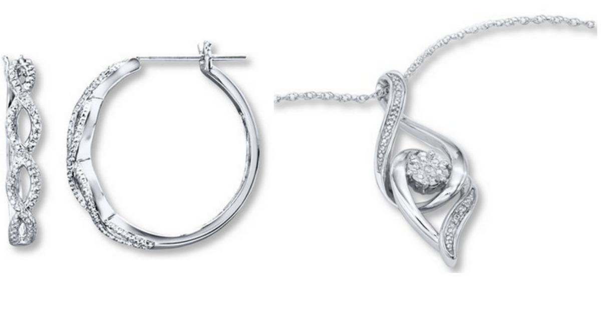 Sterling Silver Necklace or Earrings for $24.99