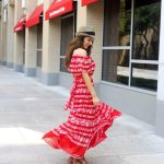 Beautiful Red Off the Shoulder Maxi Dress
