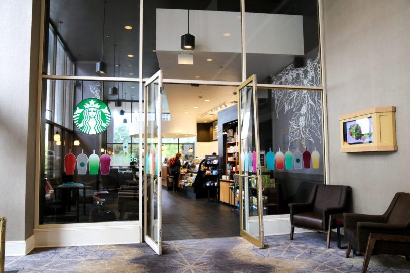 Starbucks in the Fairmont Hotel Dallas