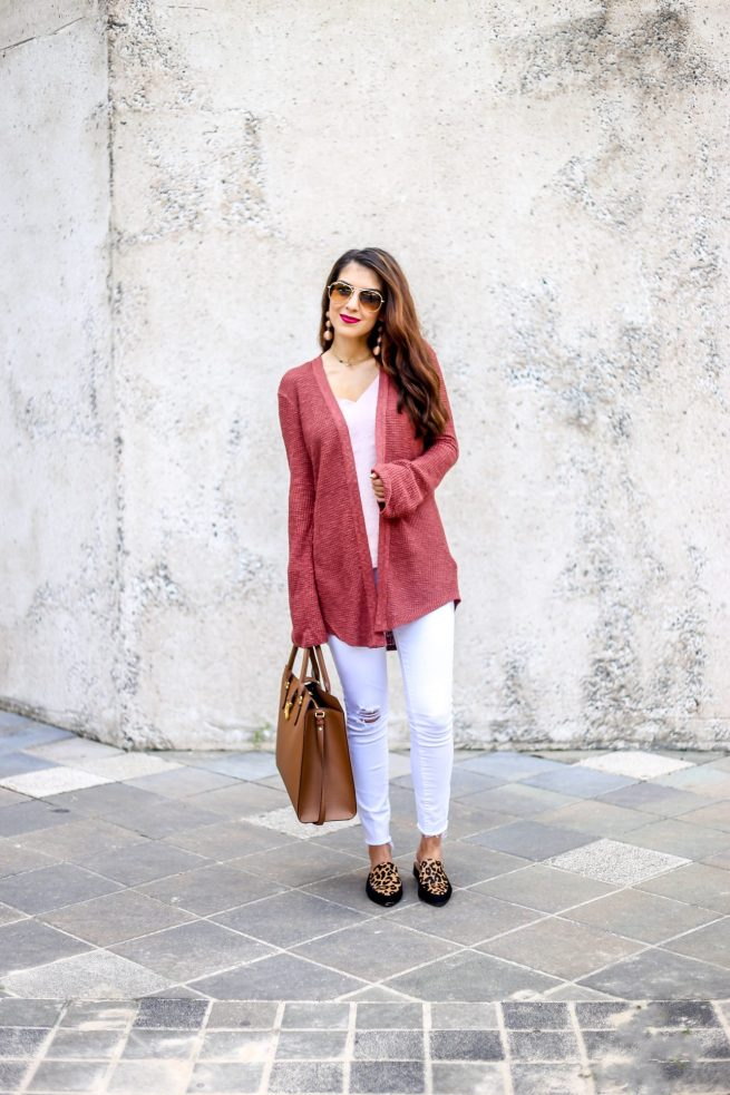 Bell Sleeve Cardigan Fall Fashion Style