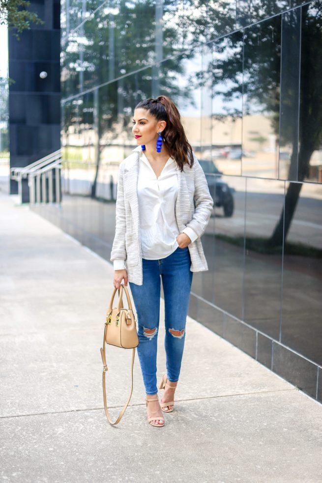 Grey Blazer Denim Style