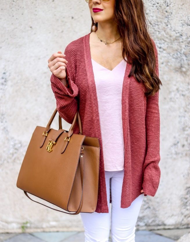 Neutral Cardigan Look for Fall