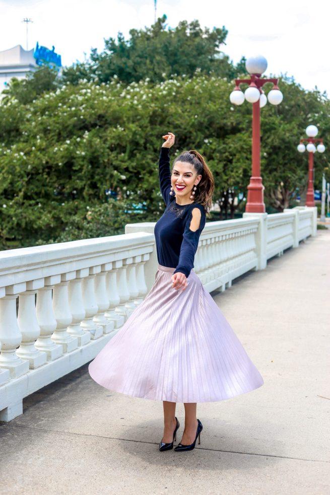 The Perfect Pleated Midi Skirt