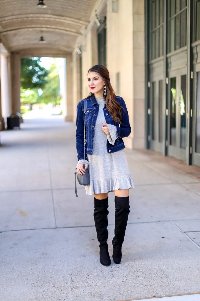 Jacket and Dress Fall Outfit