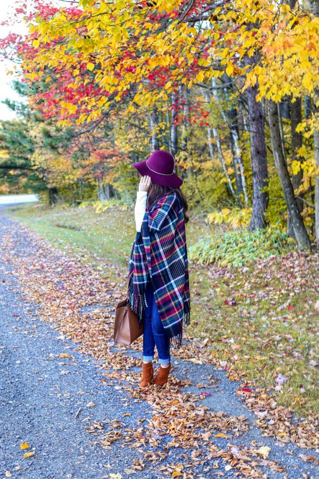 Fall Fringe Cape and Vermont Fall Foliage