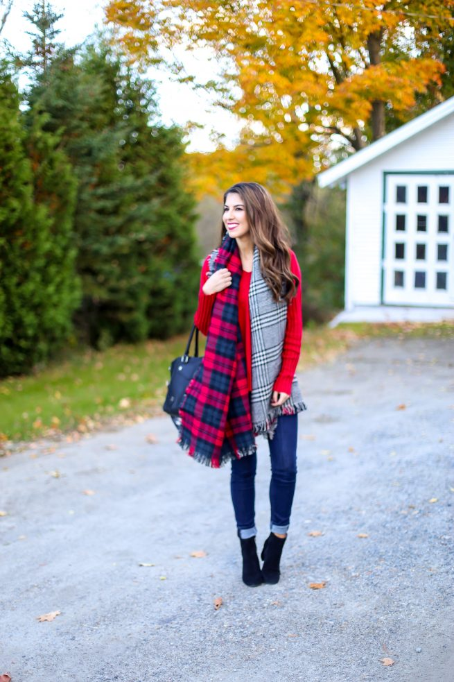 Red Sweater for Fall and Winter