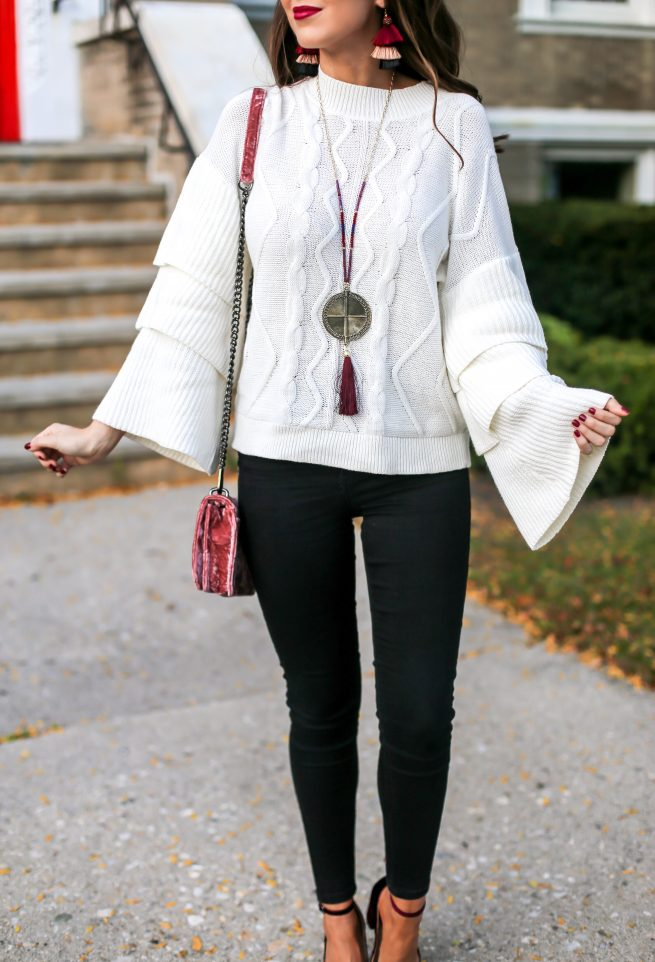 Tiered Cable Knit Sweater and Fall Style