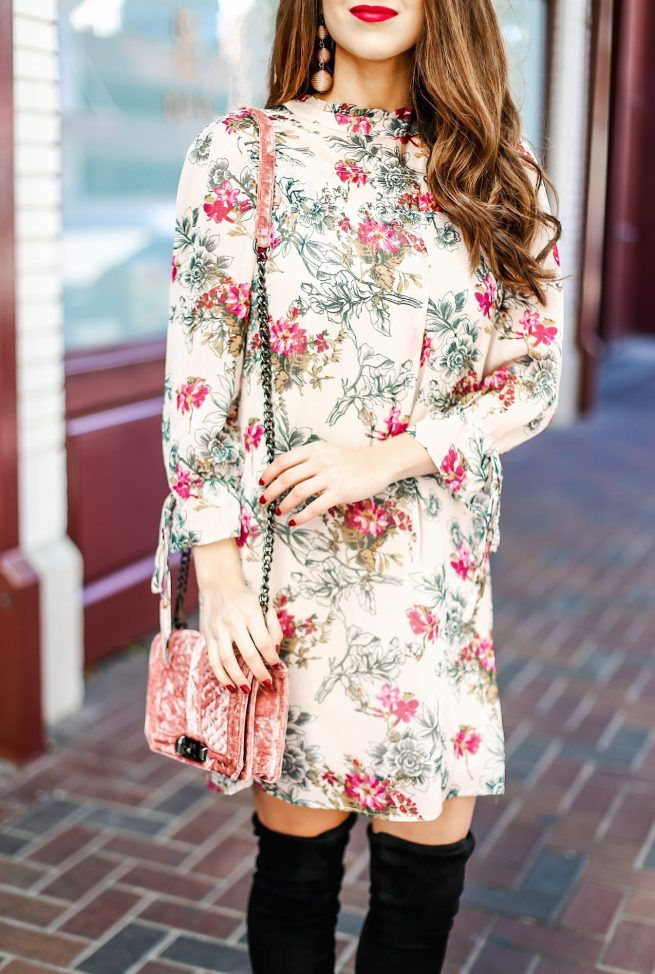 Beautiful Fall Floral Dres