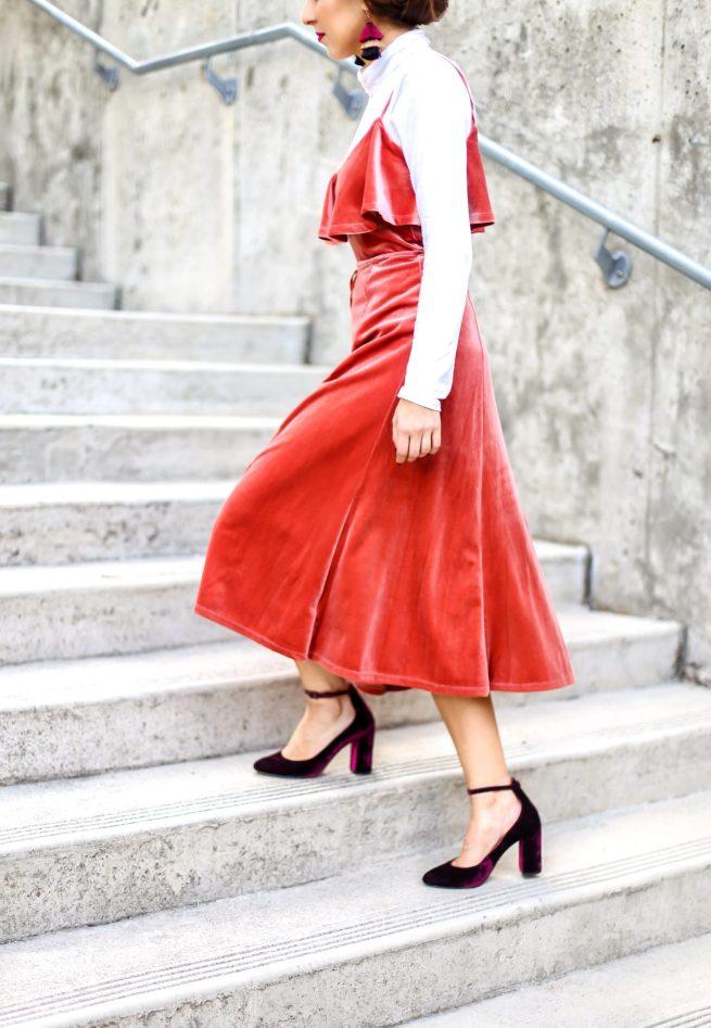 Gorgeous Velvet Midi Dress for the Holidays