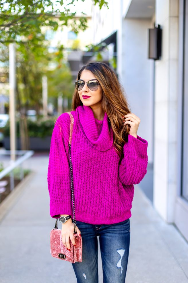 Pink Cozy Chenille Sweater