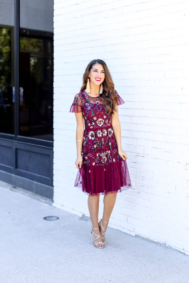 Beautiful Floral Sequin Dress