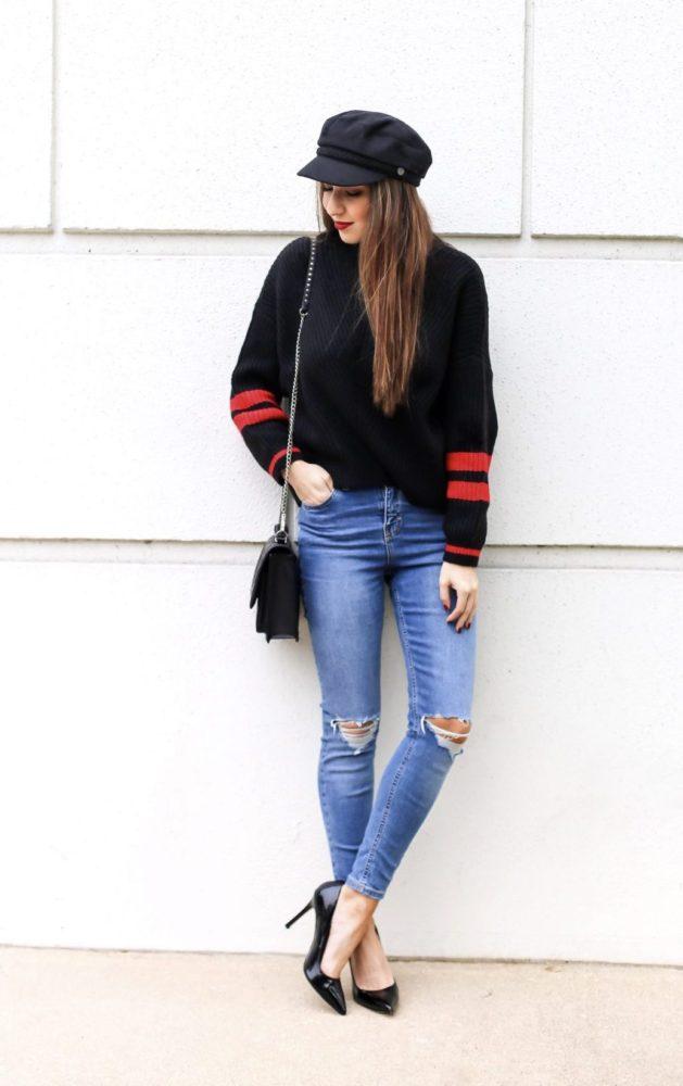 Cute Stripe Sweater for Winter