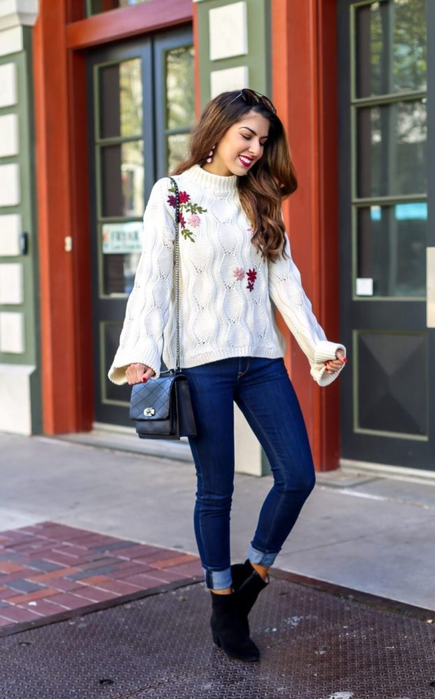 How to Style an Embroidered Knit Sweater 2