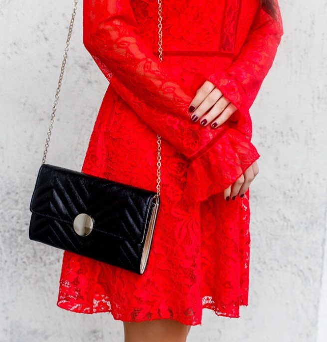 Red Skater Dress and Details