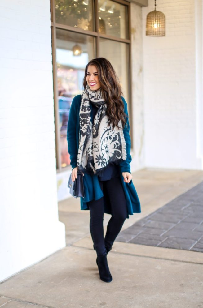 Teal Cardigan For Winter