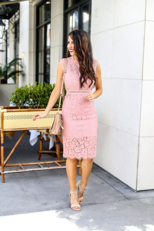 Lace Sheath Dress for Spring