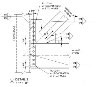 Steel Connection Design Sketch