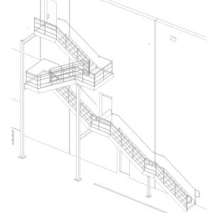 Multi-Landing Stair