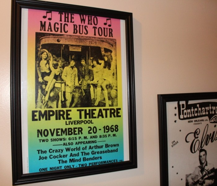 How to frame, hang concert posters