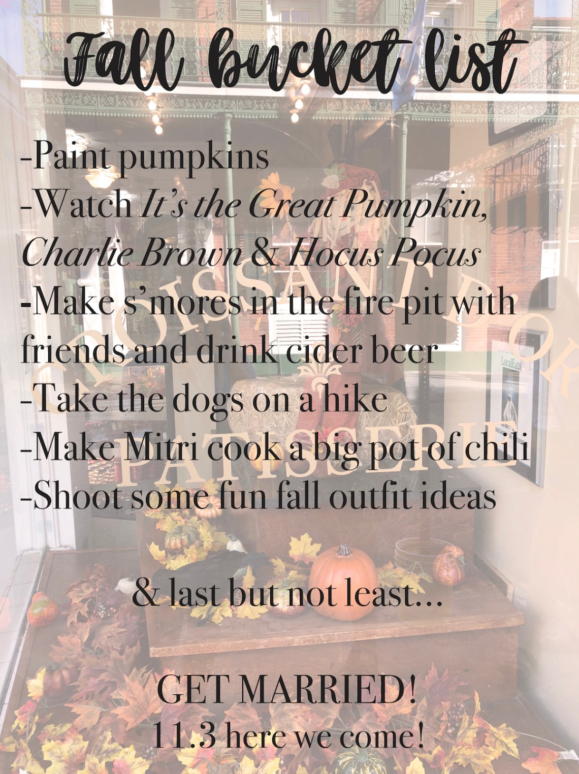 Fall, Southern Style Diaries