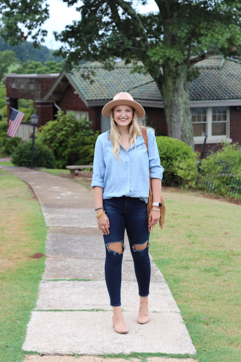 Button down styled for fall