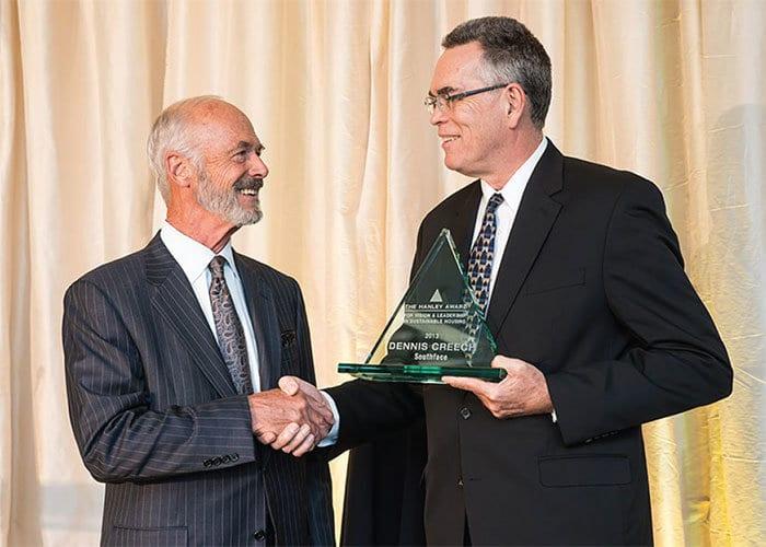 Dennis Creech receives Hanley Award