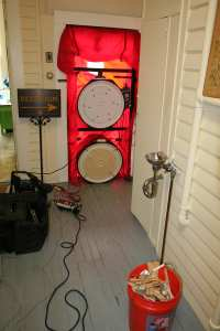 The Wren's Nest House Museum and Educational resource center received a blower door air leakage assessment as part of a full energy assessment.