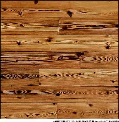 Quarter Sawn Heart Pine Flooring