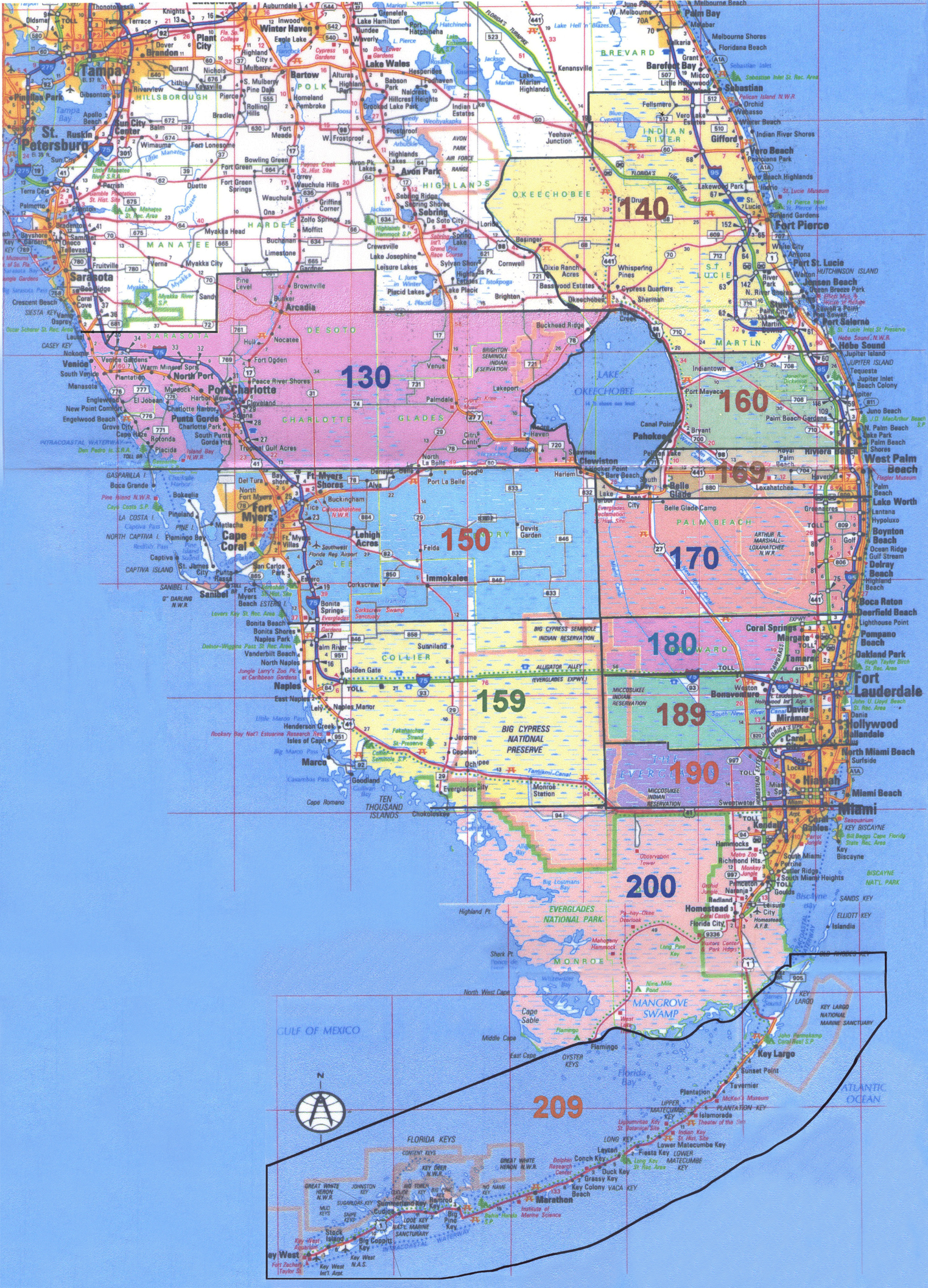 South Florida Zip Code Map.County Code Indian River Map Fl Zip