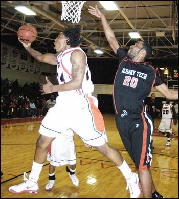 Former SGTC Jet Jae Crowder (LEFT) throws up a layup during a regular season game against Albany Tech. Crowder was traded from the Boston Celtics to the Cleveland Cavaliers in a deal that included NBA superstars Kyrie Irving and Isaiah Thomas.