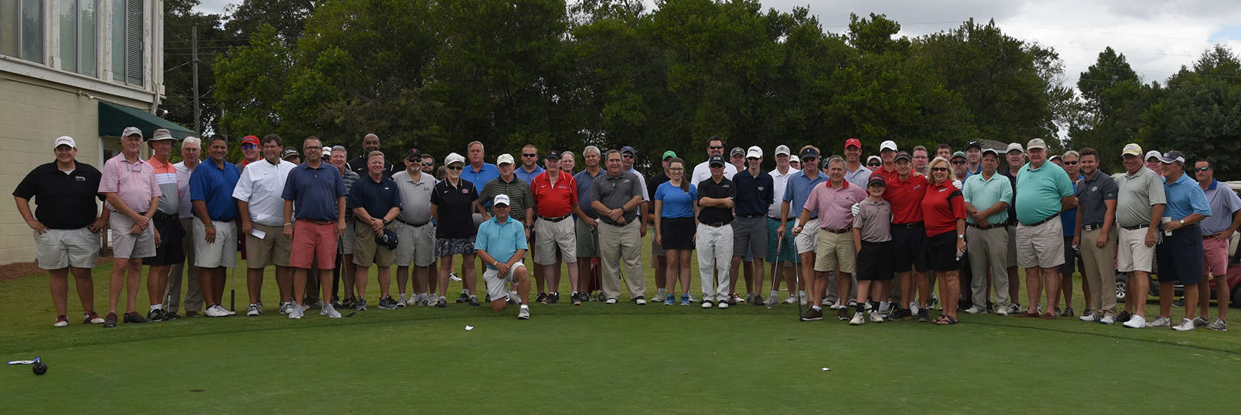 Shown above are all the individuals who participated in the SGTC Jets Booster Club Sparky Reeves Golf Classic.