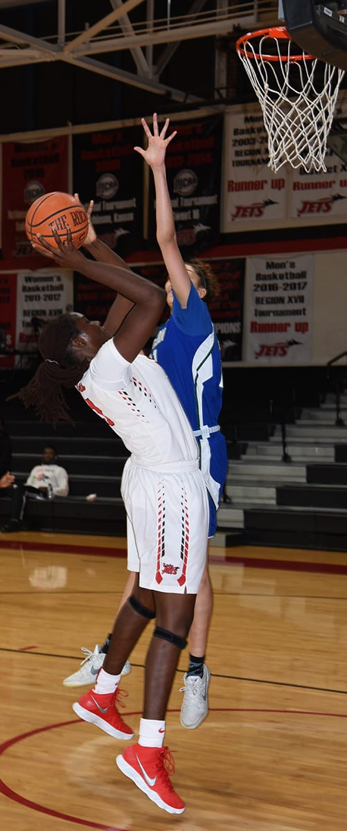 Bigue Sarr, 21, had two great games in the SGTC Holiday Classic for the Lady Jets.  She led the team in scoring against Eastern Florida with 15 points and had 14 points against Shelton State.
