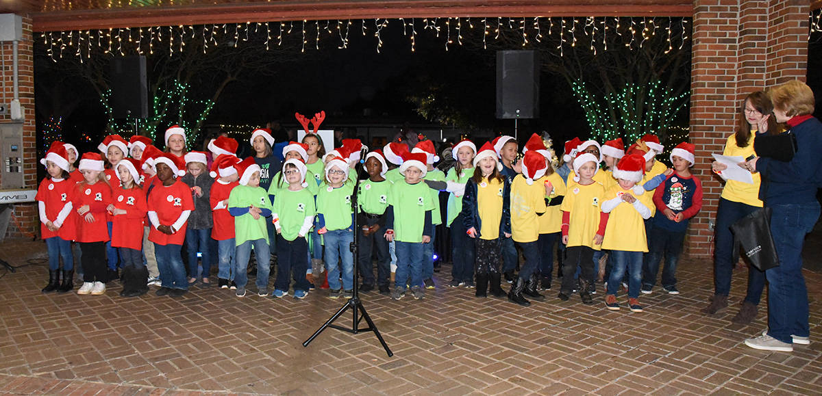 """The Furlow Charter School choir performed Christmas favorites at the South Georgia Tech """"Light Up Your Future"""" event."""