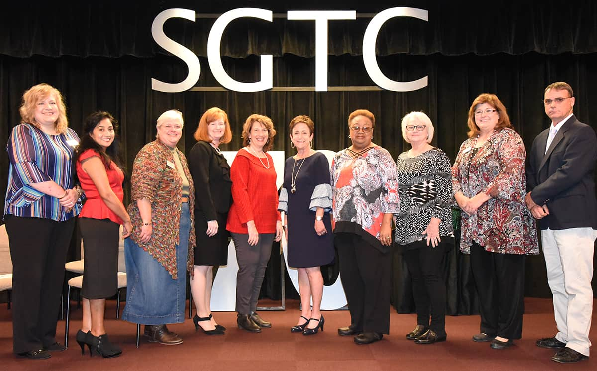 Shown above with SGTC Dean of Adult Education Lillie Ann Winn are the instructors and staff in the SGTC Adult Education department.