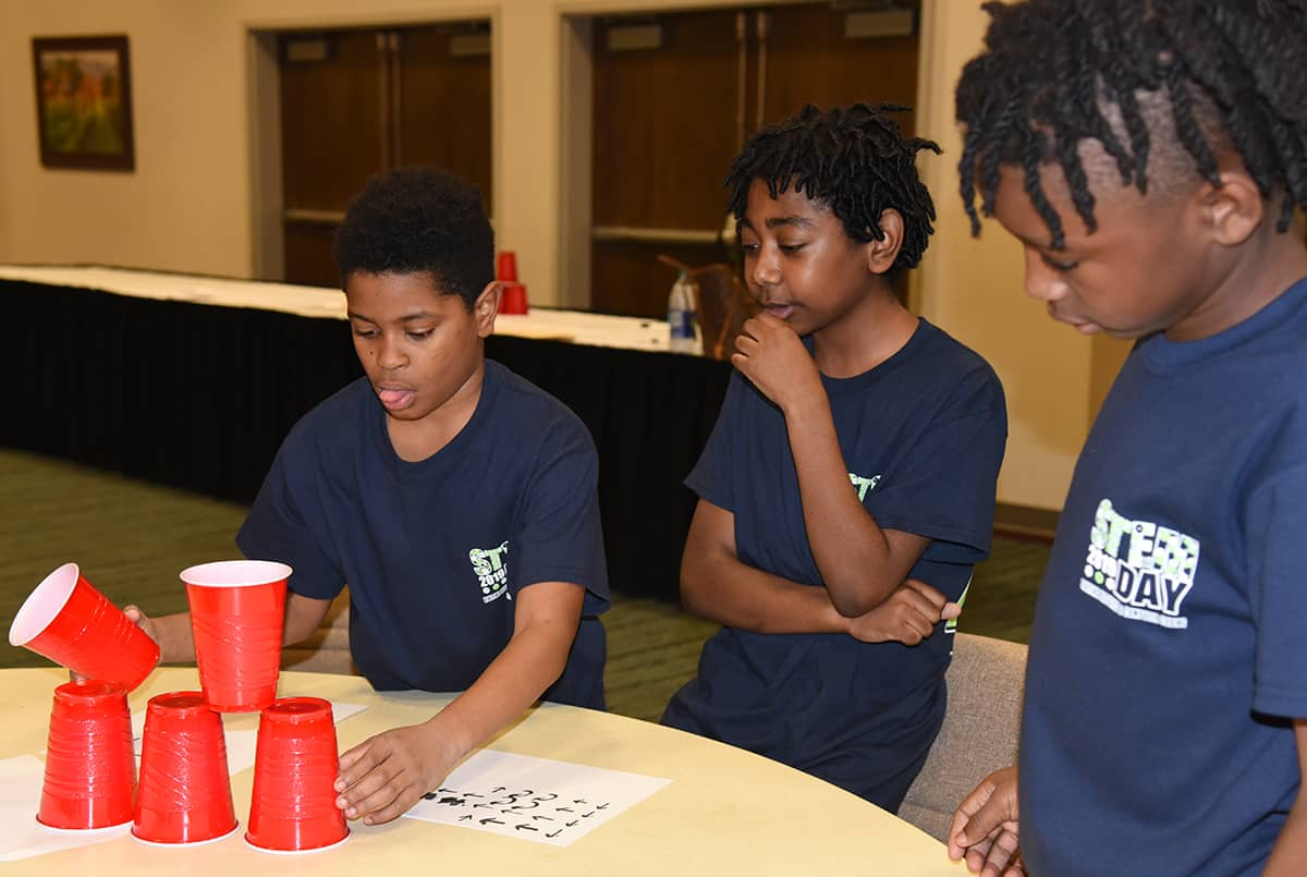 Students learned to cup code.