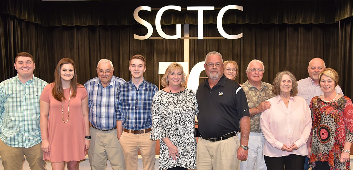 Rick Davis and his family are shown together at his retirement celebration at South Georgia Technical College.