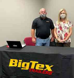 South Georgia Technical College Director of Economic Development for the Crisp County Center Michelle McGowan is shown above with Jamie Register, Human Resources Manager for Big Tex.