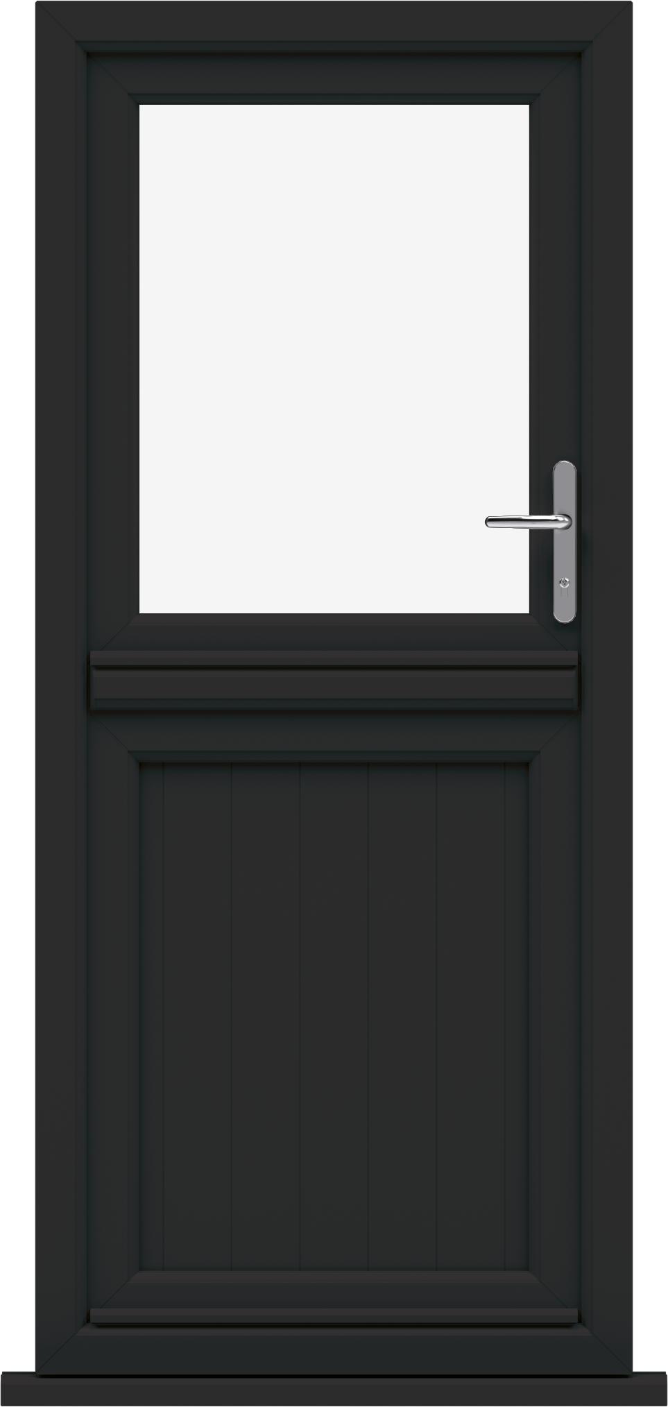 exterior door with side window