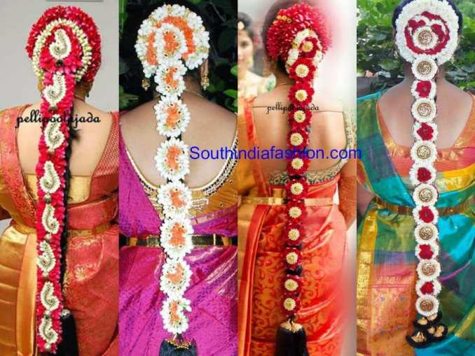 south indian floral bridal hair styles – south india fashion