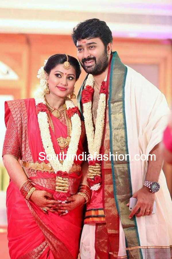 Sneha's Baby Shower Seemantham Function –South India Fashion